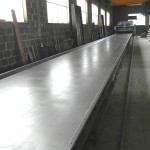 Filigree slabs production
