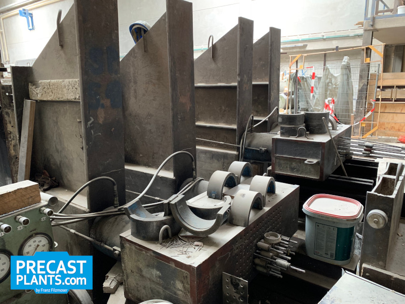 Prestressing casting bed equipment PAUL A9332
